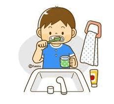 Cepillado dental niño