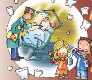 Odontólogo y niños