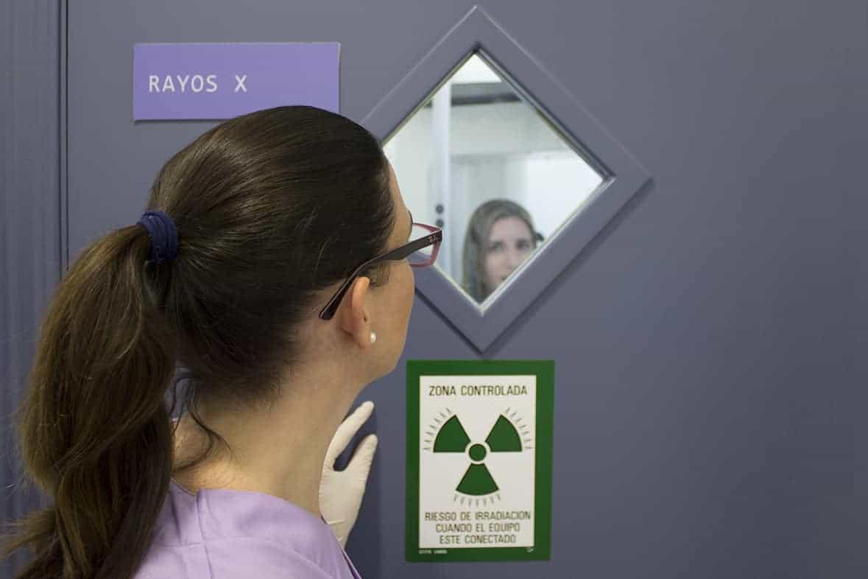 Paciente en rayos X