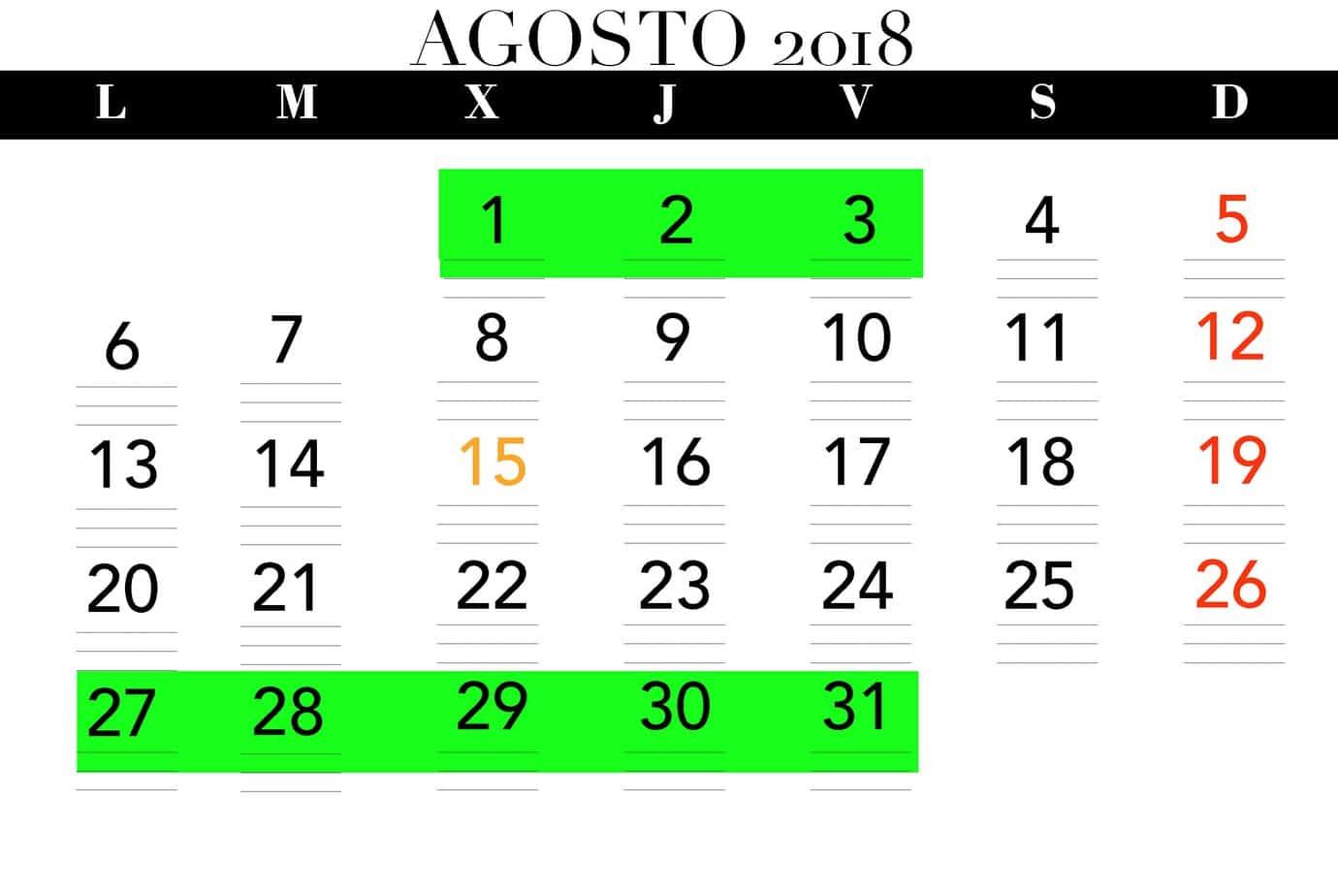 Calendarios apertura verano - Clínica Dental en Valencia Benimaclet